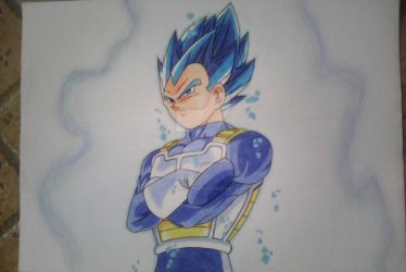 Vegeta Super Sayajin Blue Full Power ( desenho) by DaishinkanART