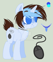 New Main Oc Again :/ - Blue Bubble by TheChoccoBear