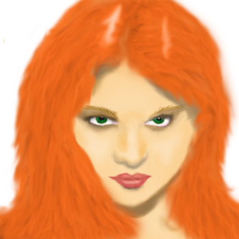 The Girl With The Red Hair (Photoshop Practice) by Kittenm123