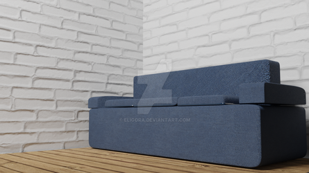 My First Attempt at a Sofa :P (Blender 2.79) by Eligora