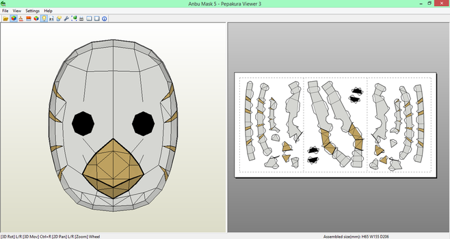 Anbu Mask (5) Papercraft [DOWNLOAD] by SIBOR270898
