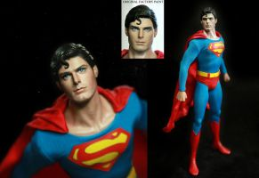 Hot Toys Superman Christopher Reeve figure repaint by noeling