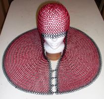 Red + Black Anodized Coif by apoc69
