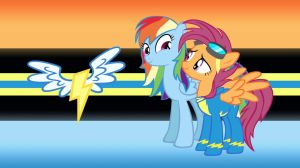 Rainbow Dash and Scootaloo, Years Into the Future by GreenMachine987