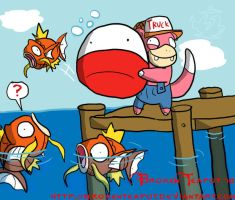 Redneck Pokemon fishing