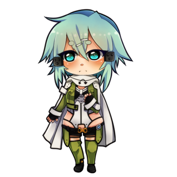 Sinon -SAO- chibi  -SPEED PAINT- by Wosda