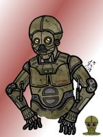 Star Wars - Bith protocol droid by Konquistador