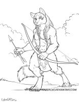 Sketch Commission for Werewolf-Wolffire by lady-cybercat