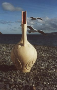 Bird Pot with Seagulls by elfnor