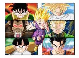 The Evolution of Gohan! by MahnsterArt