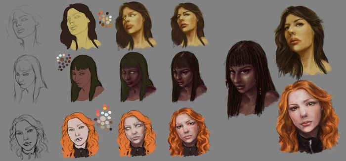 Skin tones exercise by Abend86