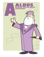 A is for Albus Percival Wulfric Brian Dumbledore by jksketch
