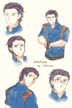 Sketch Page of Aaron Rorke by WFTC141