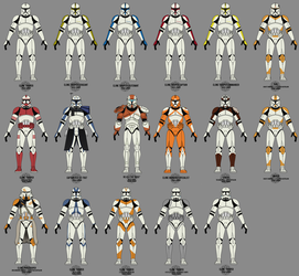 Old Clone Trooper Collection by graphicamechanica