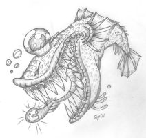 One-Eyed Deep Sea Creature by Emissary4Penguins