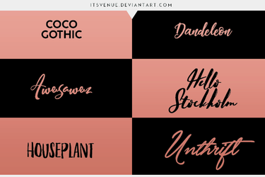 FONTS PACK. #04 by itsvenue
