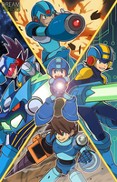 All Megaman Incarnations by TheDreamVirus