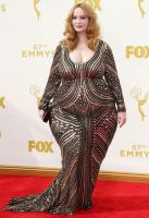 Christina Hendricks  Really Fat by cahabent