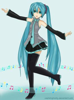 Vocaloid - Hatsune Miku by CaptainGhostly