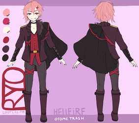 [HELLFIRE] Ryo [Character Ref Sheet] by lost-lillith
