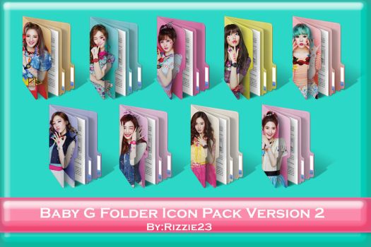 SNSD Baby G Folder Icon Pack Version 2 by Rizzie23