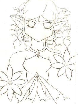 Lineart: Spring Lady by Siipu