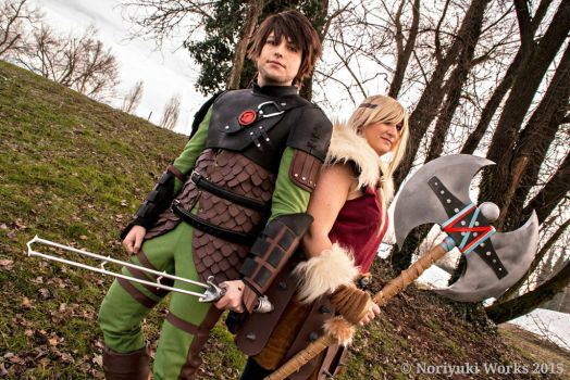 Hiccup and Astrid_Dragon Trainer 2 by JamieCool