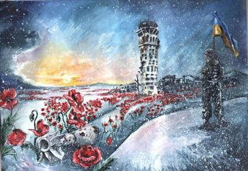 Cyborgs (Donetsk airport) by Donpainter