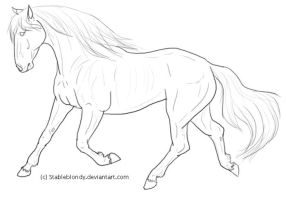 Andalusian Lineart by stableblondy