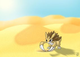 Sandslash in the Desert by Nexeron