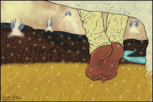 Barefoot in the new World by talpimado