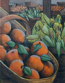 Peaches and Corn by mbeckett