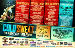 Cold Sweat - Party Flyer Back by Brainz-Designz