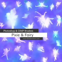 Pixie - Fairy Photoshop and GIMP Brushes by redheadstock