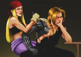 Edward and Winry by Szikee
