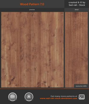 Wood Pattern 7.0 by Sed-rah-Stock