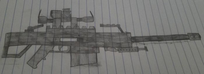 M82A1 Barrett 50.cal anti material rifle (Revised) by Garris24