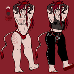 MY 1ST DESIGN TRADE: Hot Bara Demon Daddy by LilMissPunchingBag
