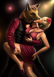 Dancing couple by GabrielWyse