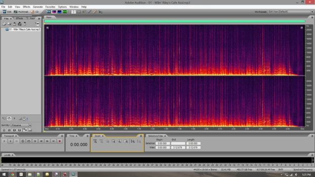Spectral Analysis of One of my Tracks by SkiyeCam