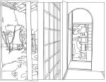 Tea House - Lineart by Crysums