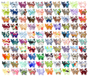 [OPEN] 100 Cat Adopt Challenge by Sneaky-Bean