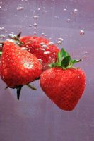 Strawberries in Water by igt770524