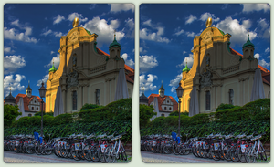 Baroque architecture in Munich 3-D / CrossView HDR by zour