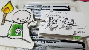 A doodle a day - Follow me by Merc007