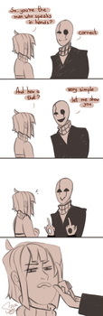 The man who speaks in hands comics by RestingJudge