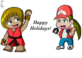 Ken and Terry wish happy holidays by fighterxaos