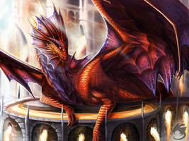 Niv-Mizzet by metal-beak