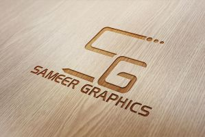 Wood Engraved Logo Mock-Up by syedsameer07860