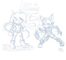 Mike Geo, Freedom Planet Lilac and Carol doodle by Gx3RComics